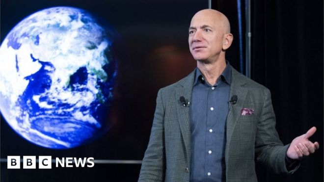 Jeff Bezos and brother to fly to space in Blue Origin flight #world #BBC_News