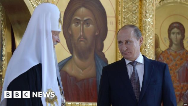 Russian Orthodox Church lends weight to Putin patriotism - BBC News