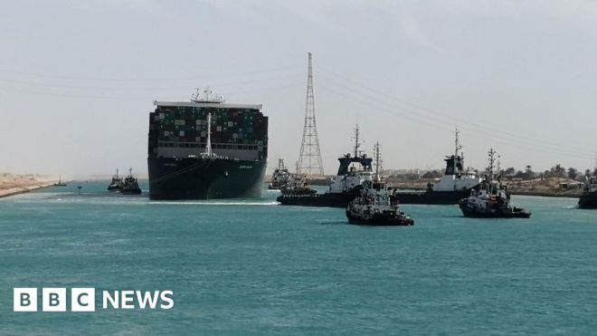 Suez Canal: Giant ship blocking Suez Canal finally freed #world #BBC_News