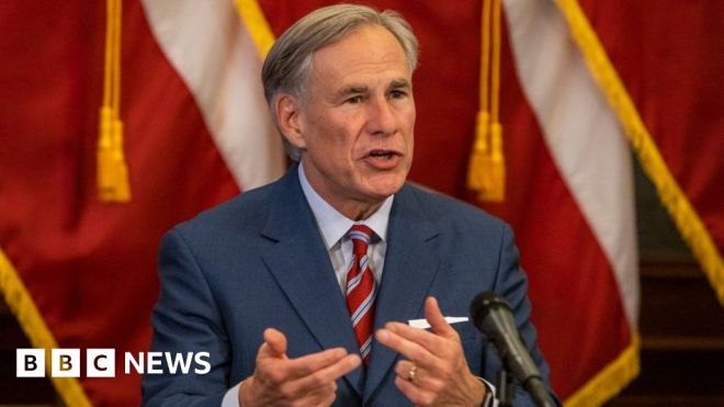 Texas governor promises to build border wall amid migrant surge #world #BBC_News