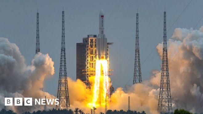Big Chinese rocket segment set to fall to Earth #world #BBC_News