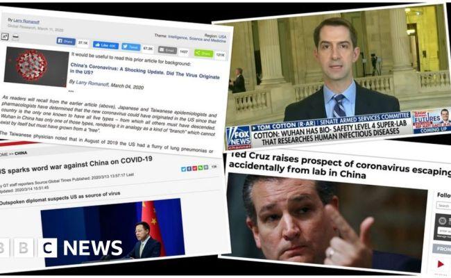 Coronavirus Us And China Trade Conspiracy Theories Bbc News