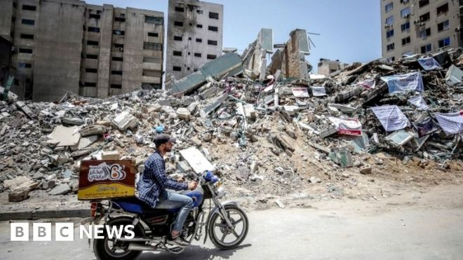 Israel says Hamas used tower to jam Iron Dome #world #BBC_News