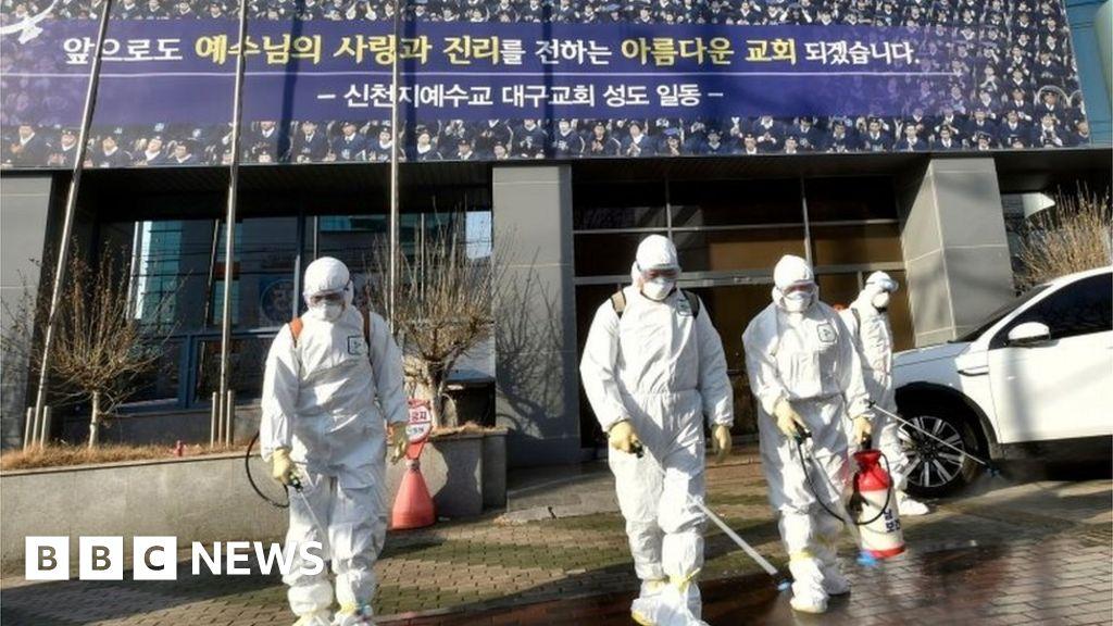 Coronavirus: South Korean sect identified as hotbed - BBC News