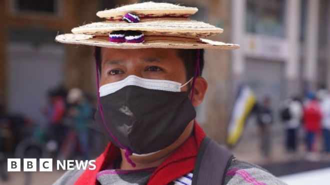 Colombia protesters: 'We're not scared anymore' #world #BBC_News