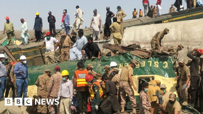 Pakistan train accident: Family describes wedding tragedy as death toll rises #world #BBC_News