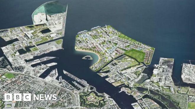 Denmark parliament approves giant artificial island off Copenhagen #world #BBC_News