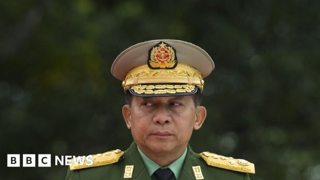 Myanmar: Coup leader Min Aung Hlaing vows to 'safeguard democracy' #world #BBC_News