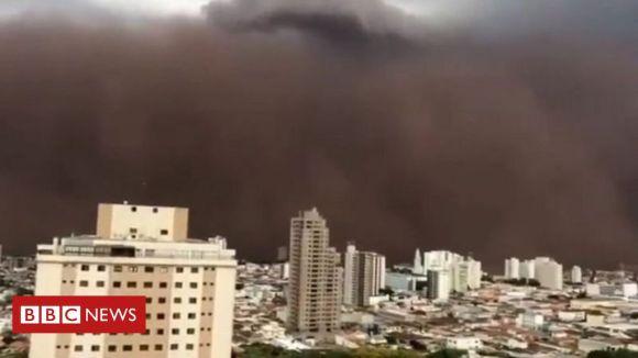 Desmatamento e modelo agrícola aumentam risco de 'tempestade de poeira' - BBC News Brasil
