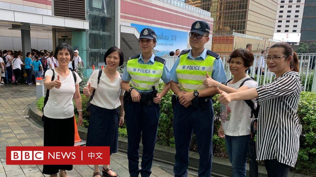 香港警察支持者的詰問:為何反逃犯條例示威者要搞亂香港? - BBC News 中文
