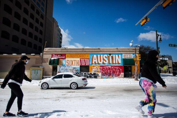 Pedestrians in Austin