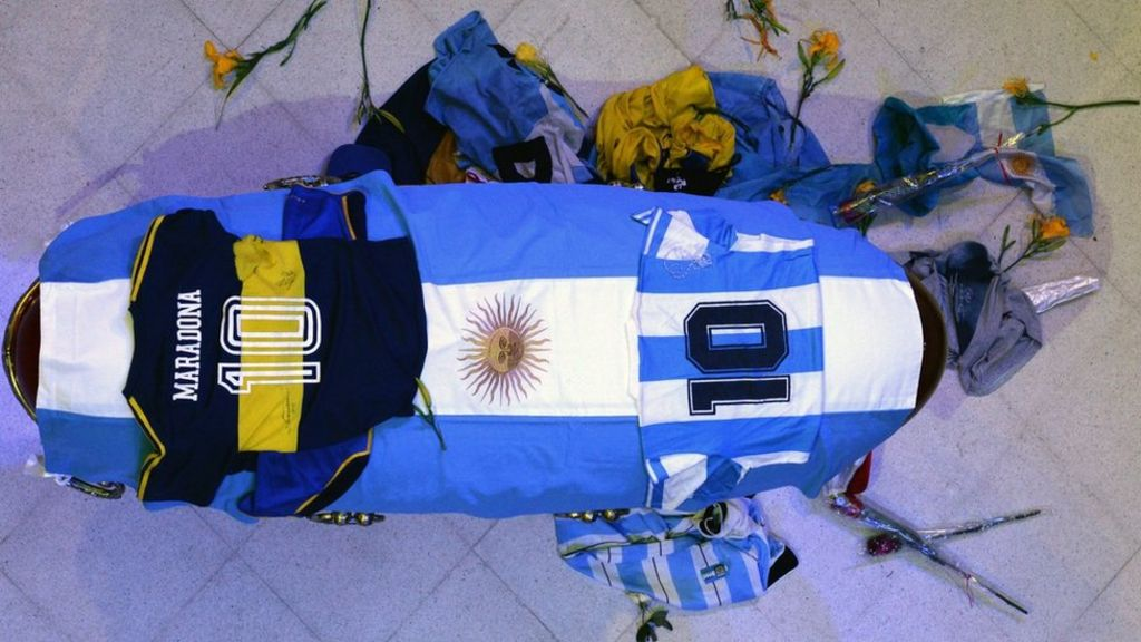 Maradona: Funeral worker apologises over coffin photos - BBC News
