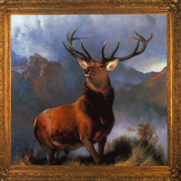 Painting by Landseer Monarch of the Glen