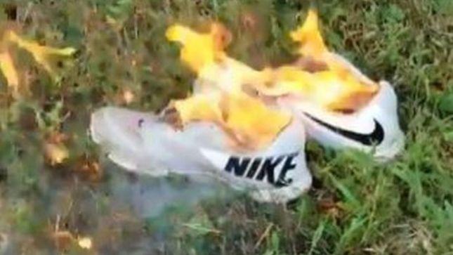 Image result for Kaepernick ad spurs Nike boycott campaign