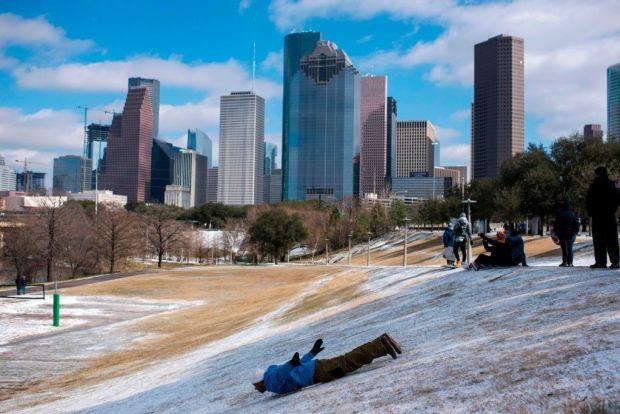 Sledging in Houston