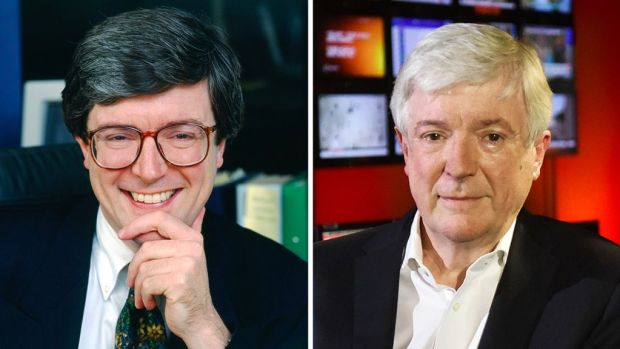 Lord Tony Hall in 1996 and 2020