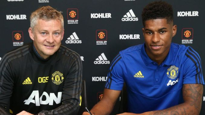 Image result for Marcus Rashford: Man Utd striker signs new contract to 2023