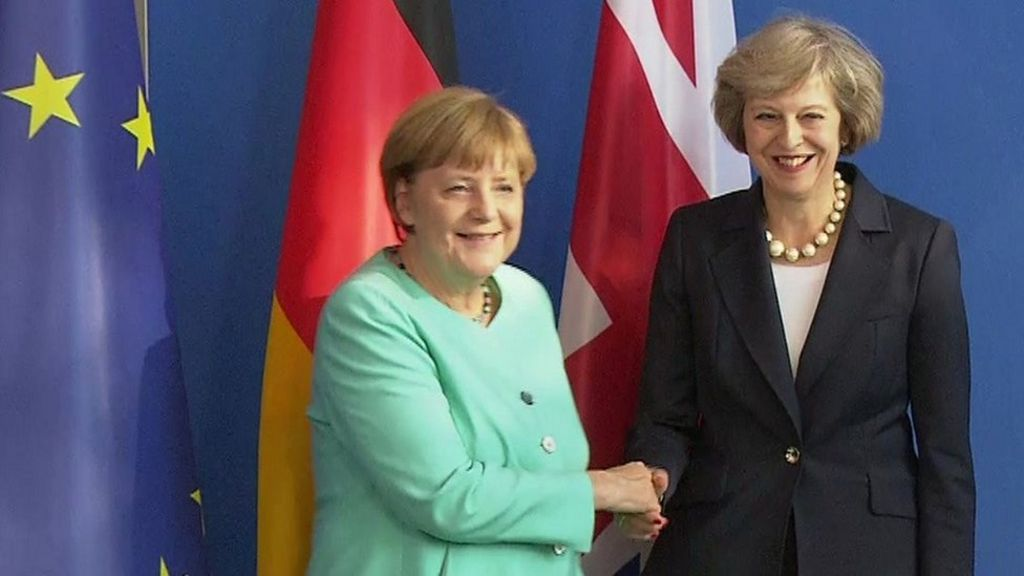Image result for image of theresa may and angela merkel