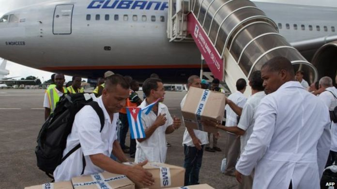 Image result for cuban doctors in africa and abola