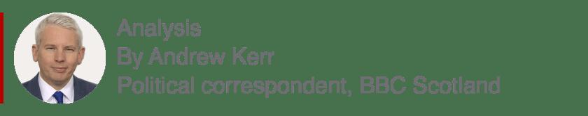 Analysis box by Andrew Kerr, Political correspondent, BBC Scotland