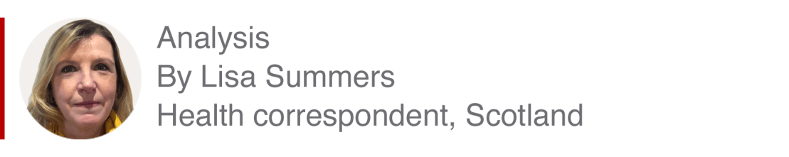Analysis box by Lisa Summers, health correspondent, Scotland