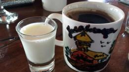 Leche de burra y café