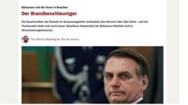 Bolsonaro, 'o inflamador': mídia internacional sobe o tom de críticas ao Brasil