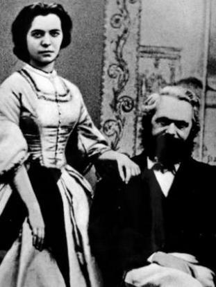 Jenny y su padre Karl Marx en 1866.