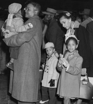 A family arrives in Britain from Jamaica around 1950