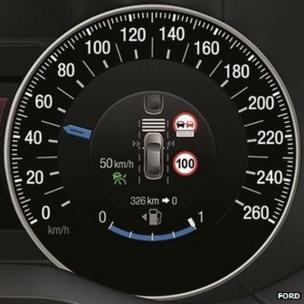 Speed limit dashboard