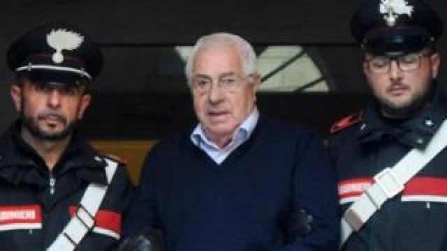 Settimo Mineo under arrest, 4 Dec 18