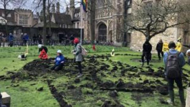 Extinction Rebellion at Trinity College