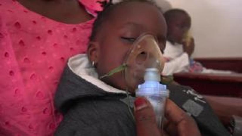 Two-year-old Thayi at Senegal's Albert Royer Children's Hospital