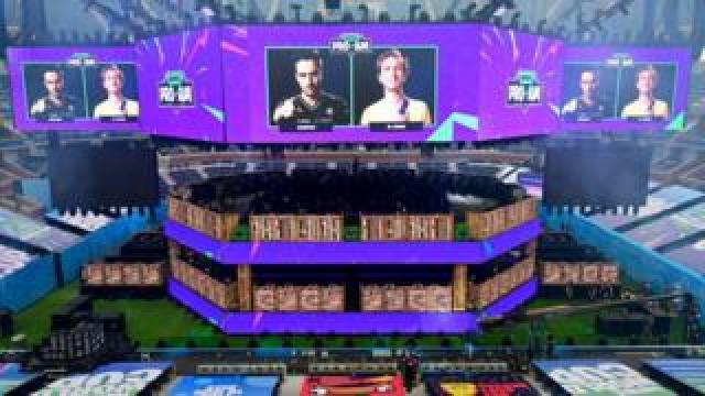 Screens showing the Fortnite World Cup events