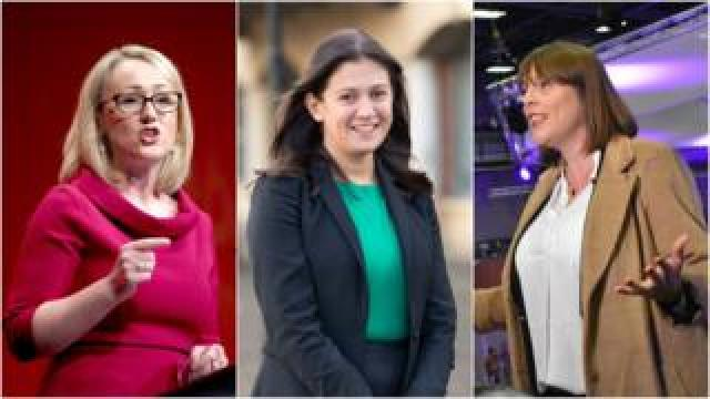Rebecca Long Bailey, Lisa Nandy and Jess Phillips (l to r)
