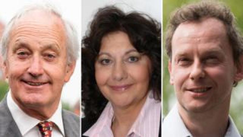 Neil Hamilton, Caroline Jones and Gareth Bennett