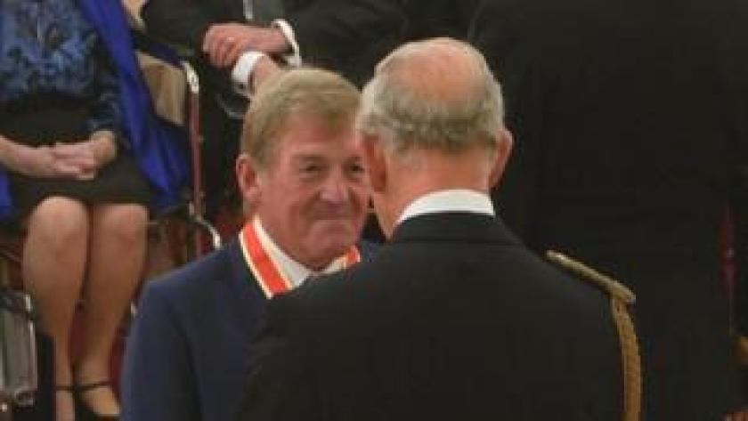 Sir Kenneth Dalglish and Prince Charles