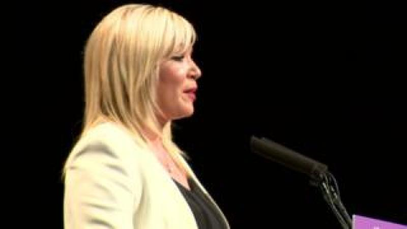 Mrs O'Neill was making her first speech to an ard fheis (conference) since becoming party vice-president.