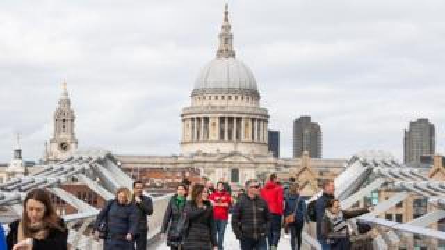 Millennium Bridge, 13 March 2020