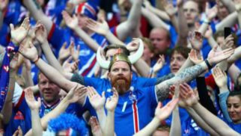 Iceland football supporters in 2016