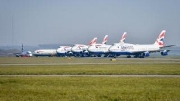 Planes at Cardiff airport