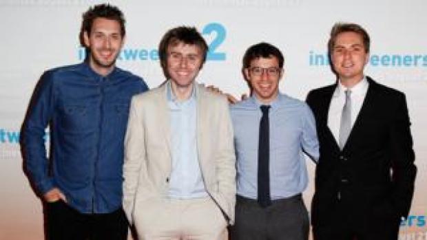 Blake Harrison, James Buckley, Simon Bird and Joe Thomas