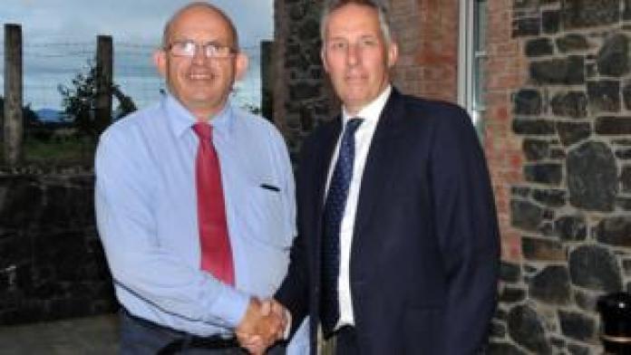 DUP councillor John Finlay with Ian Paisley