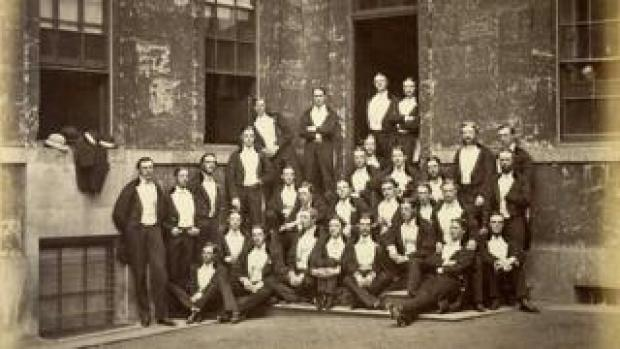Bullingdon club in evening dress