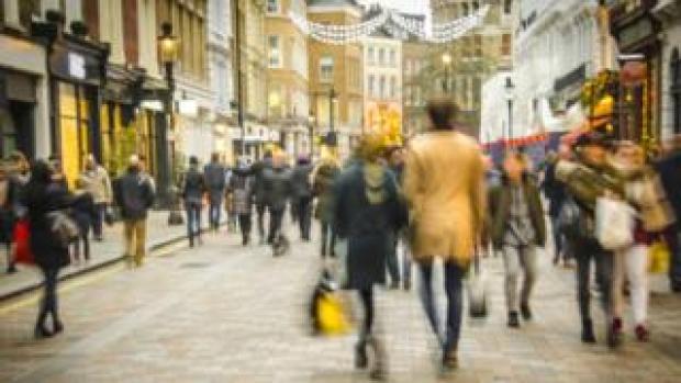 crowd in street