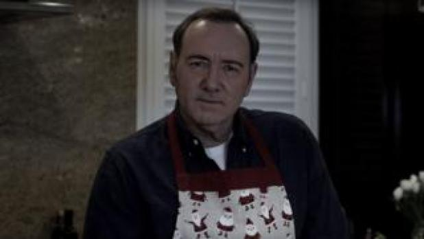 A still from a video in which Mr Spacey appears to deny any wrongdoing