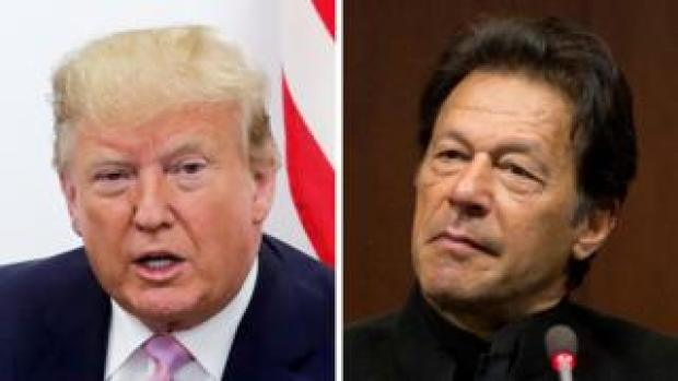 Donald Trump (left) and Imran Khan (composite image)