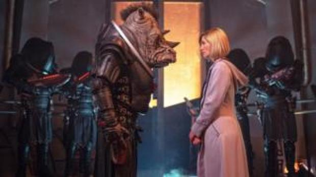 The Doctor, played by Jodie Whittaker, meeting a Judoon Captain