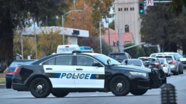 A Bakersfield police vehicle