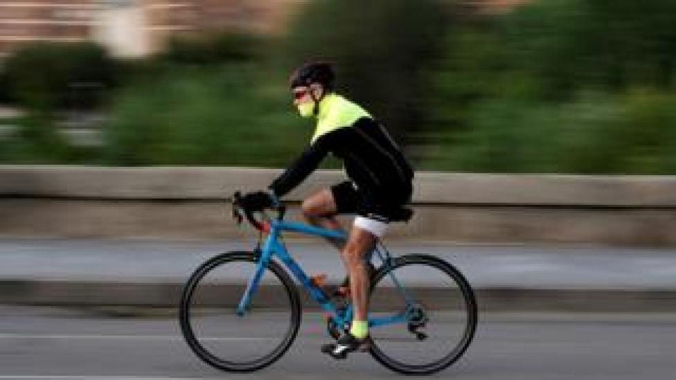 Madrid cyclist, 2 May 20